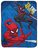 Jay Franco Marvel Spiderman The Rescue Raschel Throw Blanket - Measures 43.5 x 55 inches, Kids Bedding Features Miles Morales - Fade Resistant Super Soft (Official Marvel Product)