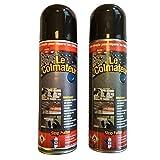 Lot de 2 Colmateur bitumineux 405 ml brut stop fuites, réparation express, étanchéité détail toiture