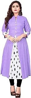 Sukhvilas Fashion Women's & Girls Cotton A Line Kurta 3/4th Sleeve