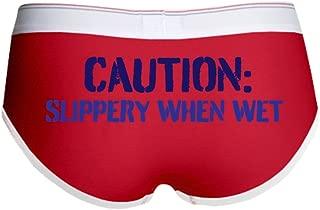 Slippery When Wet Women's Boy Brief - Women's Boy Brief, Boyshort Panty Underwear with Novelty Design
