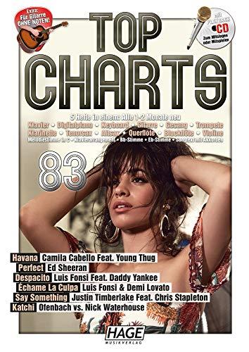 Top Charts 83 (mit CD): Die aktuellsten Hits der erfolgreichsten Stars und das Beste aus den Charts!