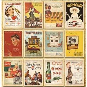 [Neustadt]ヴィンテージ風レトロアメリカンポスター柄ポストカード32枚セット