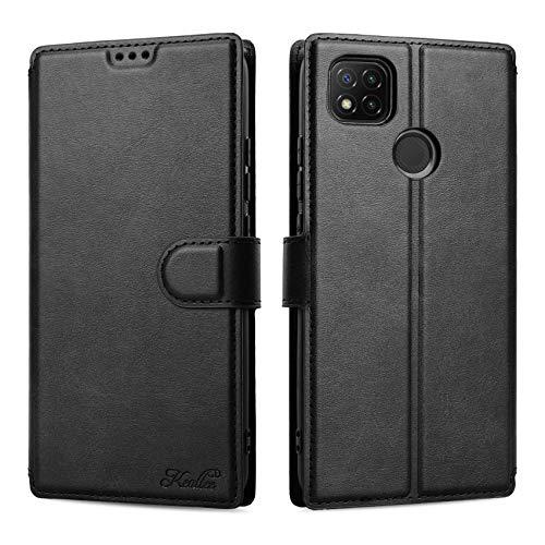 Keallce Kompatibel für Xiaomi Redmi 9C/9C NFC Hülle, Handy Lederhülle PU Leder Hülle Brieftasche Handytasche Cover Kompatibel für Xiaomi Redmi 9C/9C NFC Ledertasche-6.53