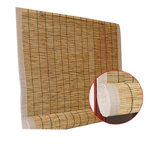 AINUO Tenda a rullo in bambù per esterni, tende avvolgibili per terrazza, gazebo pergolato, veranda, tettoia, personalizzabile (dimensioni: 150 x 300 cm)