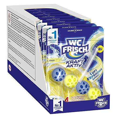 WC-Frisch Kraft Aktiv Duftspüler Lemon, WC-Reiniger, 10 Stück, mit Lufterfrischer Effekt für einen intensiven Duft