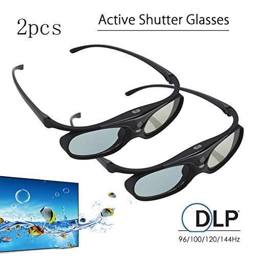 TYYW Visualización 3D Gafas, Azul Compatible Benq W1070 W700 proyector DELL 2pcs...