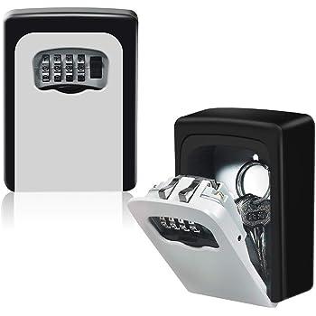 R/ésis Antirouille Bo/îte /à Cl/é Etanche Key Safe Box Bo/îte de Rangement Mural S/écuris/é pour les Cl/és Coffre /à Cl/és Mural Coffre /à Code Ext/érieur,Code R/éinitialisable