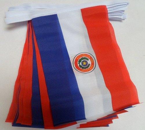 AZ FLAG Guirnalda 6 Metros 20 Banderas de Paraguay 21x15cm -