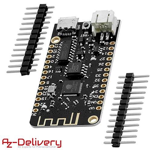 AZDelivery LOLIN32 Lite Board V1.0 mit ESP-32 Rev1, WiFi & Bluetooth kompatibel mit Arduino inklusive E-Book!