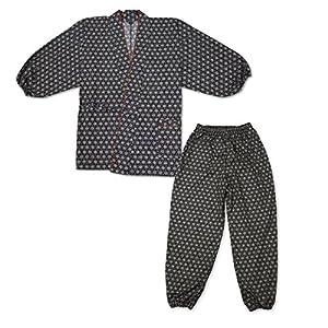 IKISUGATA Women's Samue Working Clothes Repeating Pattern