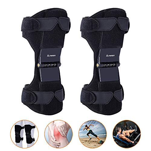 AIWOIT Power Knee Stabilizer Pads, 2020 Updated 1 Pair Powerknee Brace Joint Support with 4 Powerful...