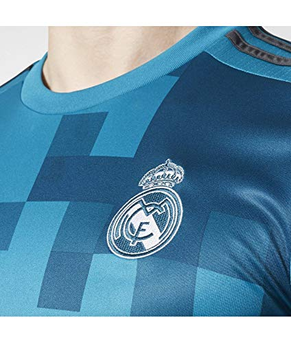 adidas 3 JSY Camiseta 3ª Equipación Real Madrid 2017-2018, Hombre, Azul (azuint/gripur/Blanco), XL