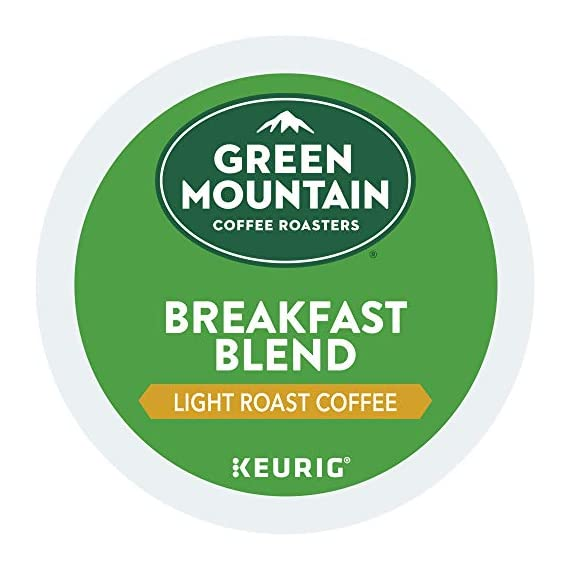Green Mountain Coffee Roasters Breakfast Blend, Single-Serve Keurig K-Cup Pods, Light Roast Coffee, 72 Count 10 Taste: an eye-opening Decaf as delightful as the dawn itself. Clean and bright, with balanced sweetness, nutty flavor, and a silky mouthfeel. Roast: light roast, 100% Arabica decaffeinated coffee and is certified Orthodox Union Kosher (U) Sustainability: committed to 100% responsibly sourced coffee by end of 2020