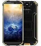 """Blackview BV9500 - Batteria 10000 mAh IP68 / IP69K Impermeabile / Antiurto / Antipolvere Smartphone Android 8.1, schermo FHD + da 5,7 """"(18: 9), Octa Core da 2,5 GHz 4 GB + 64 GB, carica rapida 12V / 2A (supporto wireless supportato), fotocamera posteriore 16 MP , GPS / NFC / Impronta digitale - Giallo"""