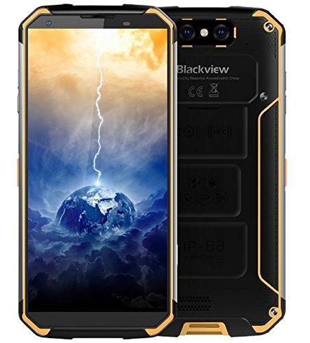 Blackview BV9500-10000mAh batería IP68 / IP69K Impermeable Antipolvo Smartphone Libre, Android 8.1, 5.7 Pulgadas (18: 9) FHD + Pantalla, 2.5GHz Octa Core 4GB + 64GB - Amarillo
