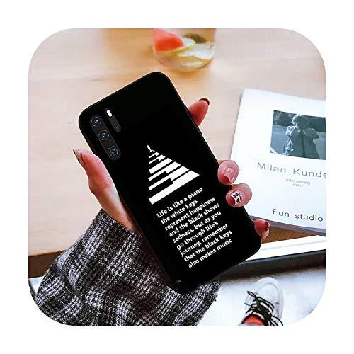Piano pintura arte teléfono caso para Huawei honor mate P 9 10 20 30 40 pro 10i 7 8 a x Lite nova 5t-a8-huawei nova 5t