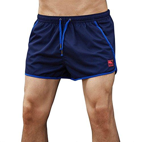 NEEKY Herren Shorts Quick Dry Casual Herren Shorts Badehose Strand Surfen Laufen Schwimmen WasserShorts Herren Hosen Cargo Pack(M,Blau)