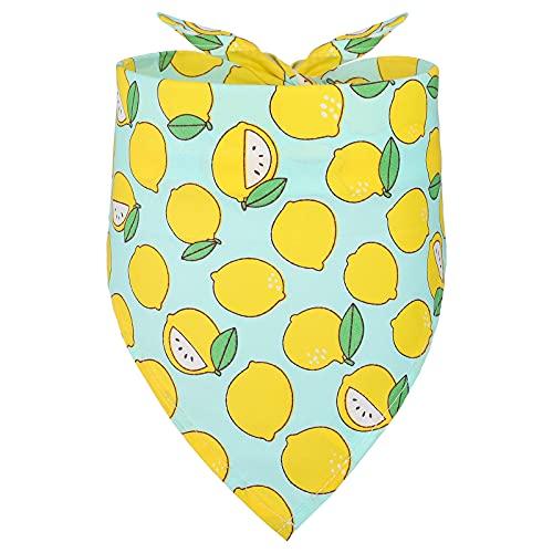 Pañuelo de Perro Triangular de Verano Baberos Triangulares de Mascotas de Verano Bufanda Lavable de Perros Bandana de Perro Limón Accesorios de Vestidos para Suministros de Ropa Perro