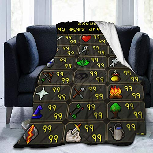Sherrygeoffrey Rune-Sc-Ape My-Eyes-are Up Here Digital Printed Ultra-Soft Micro Fleece Blanket Soft Warm 50'X40'