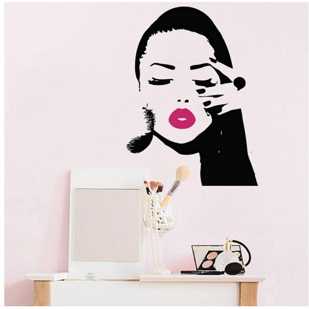 aksldf Beauty Salon Excellence Max 43% OFF Fashion Girls Sticker Wall Manicure Face Nai