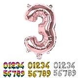 Boland-23783 Globo Mylar número 3, Color Rosa, 36 cm (Ciao SRL 23783)
