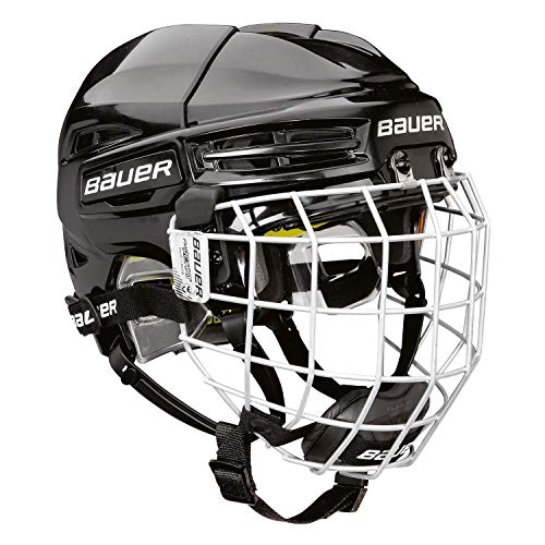 BAUER RE-AKT 100 Helm Combo Bambini, Farbe:schwarz