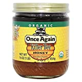 ONCE AGAIN HONEY RAW KILLER BEE ORG, 16 OZ