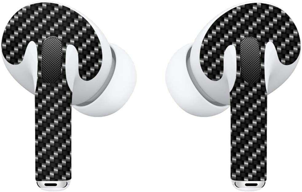 APSkins Skins for AirPods Pro - Printed Design. Protective Wraps Stickers to Cover Air Pods – Compatible Sticker Wrap Decal with Apple Air Pod Pro Accessories (Carbon Fiber)