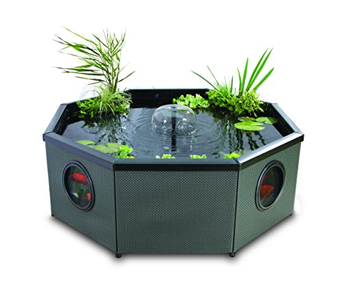 Blagdon Affinity Living Water Feature Pool, Grand Octagon Mocha Weave,...