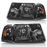 DWVO Headlight Assembly Compatible with 2001-2011 Ford Ranger