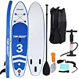 BESLUK 10Ft Inflatable Super Stand Up Paddle Board Surfboard Adjustable Fin Paddle