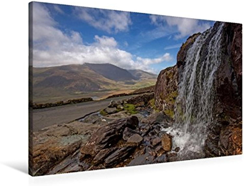 Calvendo Premium Textil-Leinwand 90 cm x 60 cm quer, Wasserfall am Connor-Pass, Country Kerry   Wandbild, Bild auf Keilrahmen, Fertigbild auf echter Leinwand. Irland - Natur pur Natur Natur