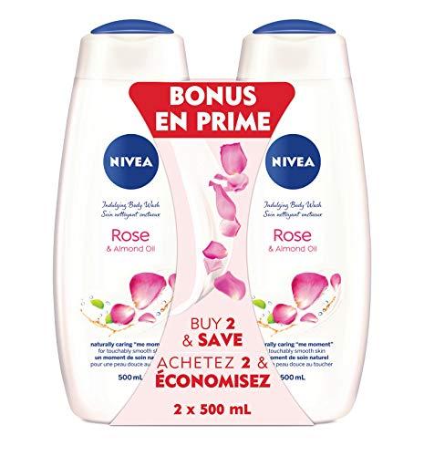 NIVEA Care & Roses Body Wash, 2 X 500ml, 2 Count