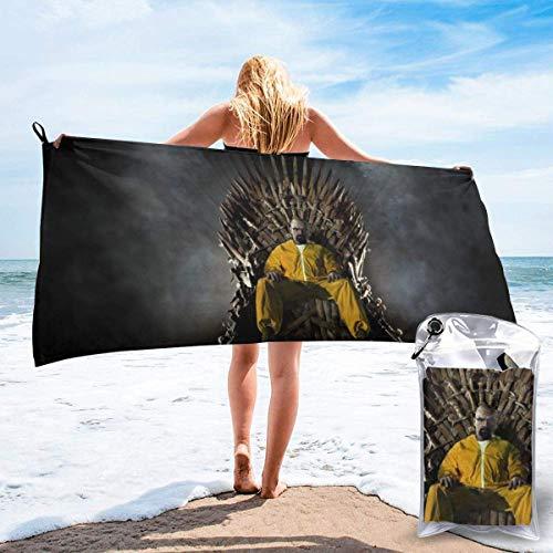shihuainingxianruandans Breaking Bad Toalla de baño de secado rápido suave Toallas de baño de playa para viajes, camping, yoga, gimnasio, piscina, sillas de playa, baños, toalla