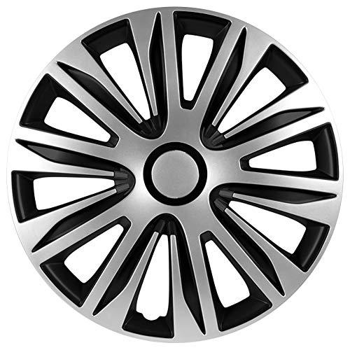 Autostyle PP 5205 Satz Radzierblenden Nardo 15-Zoll Silber/Schwarz