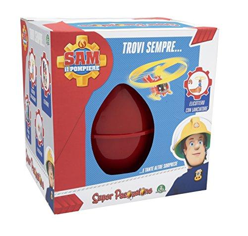 Giochi Preziosi, Super Pasqualone Uovo con Sorprese, Sam Il Pompiere