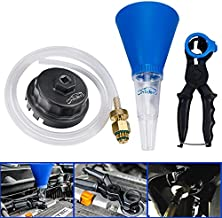 3mirrors Oil Filter Wrench, Drain Tool Set, and Engine Oil Funnel Compatible with Toyota Lexus Scion Camry Tundra Highlander Sienna 2.0-5.7L Engine with 64mm Cartridge Style Oil Filter System