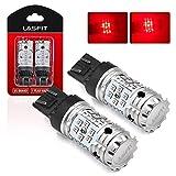 LASFIT Red 7443 7444 CANBUS Ready Anti Hyper Flash LED Brake Tail Light Bulb, Error Free, Plug and Play (2pcs)