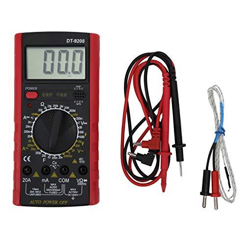 Probador de voltaje Voltaje CA y CC Corriente CA y CC Multímetro digital con LED para instrumentos Laboratorios para fábricas, entusiastas de la radio