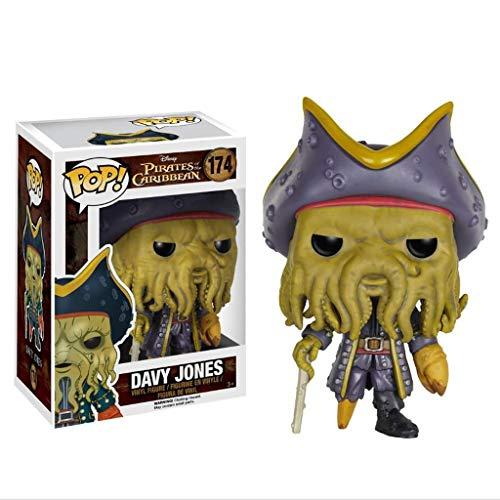 MXD Piratas del Caribe Pop Vinilo: Davy Jones calcula la muñeca Adornos de decoración Colección Multi