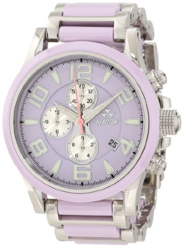 REACTOR Women's 67014 Oxide Solid Forged Stainless Steel And Colored Ceramic Watch
