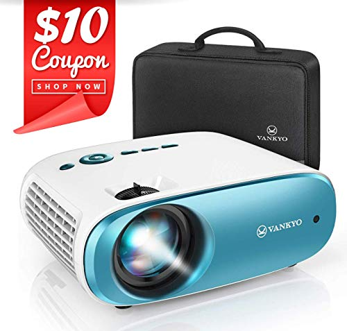 "VANKYO Cinemango 100 Mini Video Projector, 4000 Lux HD Movie Projector Support 1080P, 220"" Display, 50,000 Hrs Lamp Life, Compatible with TV Stick, HDMIx2, USBx2, VGA, TF, AV for Home Entertainment"