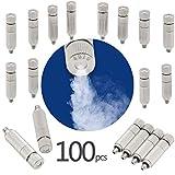 GQQG 100 Pcs Kit de Boquillas de Nebulización Boquillas de Niebla de Latón Alta Presión Rosca de 3/16' para Sistema de Nebulización Sistema de Enfriamiento Al Aire Libre Nebulizer del Agua del Jardín