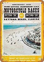 1957デイトナビーチオートバイレースグッズウォールアート