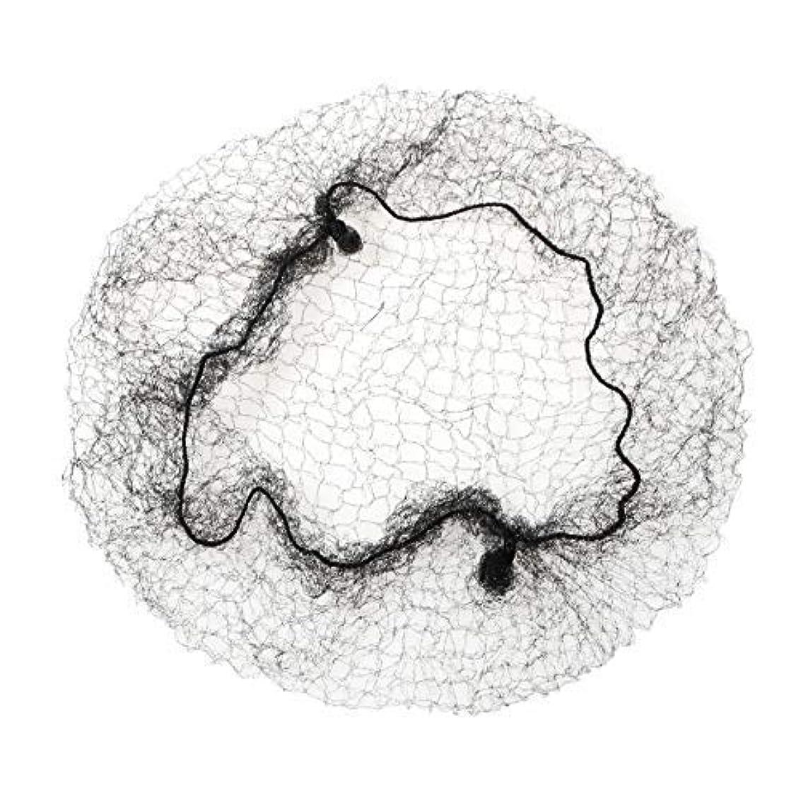 ありふれた振り子使い込むfunsemble ヘア ネット 髪束ね用ネット セット アシアナネット ブラック (100本(ブラック))