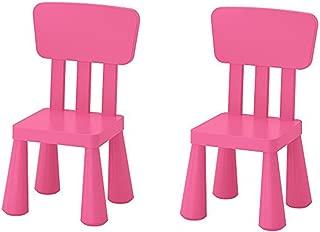 Ikea Mammut Kids Indoor / Outdoor Children's Chair, Pink Color - 2 Pack