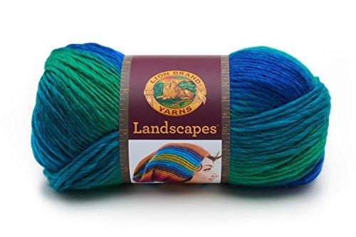 Lion Brand Yarn Landscapes Yarn, 1 Pack, Blue Lagoon