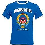 Camiseta de fútbol D04 Royal de aprom de Yugoslavia azul M