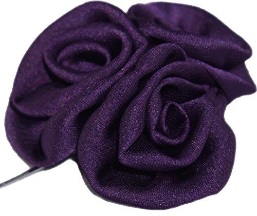 Flairs New York Gentleman's Essentials Premium Handmade Artisan Flowers Lapel Pins (Pack of 1 Pin, Imperial Purple Bouquet)