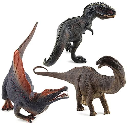 WWYYZ 3 Uds, Modelo De Dinosaurio De Simulación, Juguete para Niños, Figura De Dinosaurio, Juguete De Decoración, Suministros para Fiestas, Adornos Estáticos
